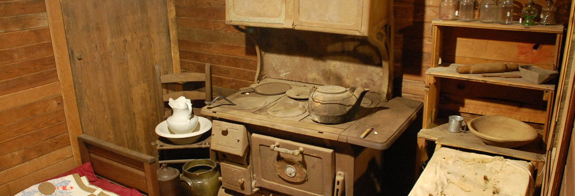 Interior of slave cabin replica