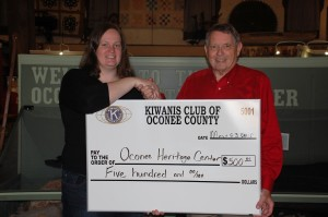 OHC receives donation from Kiwanis Club of Oconee County