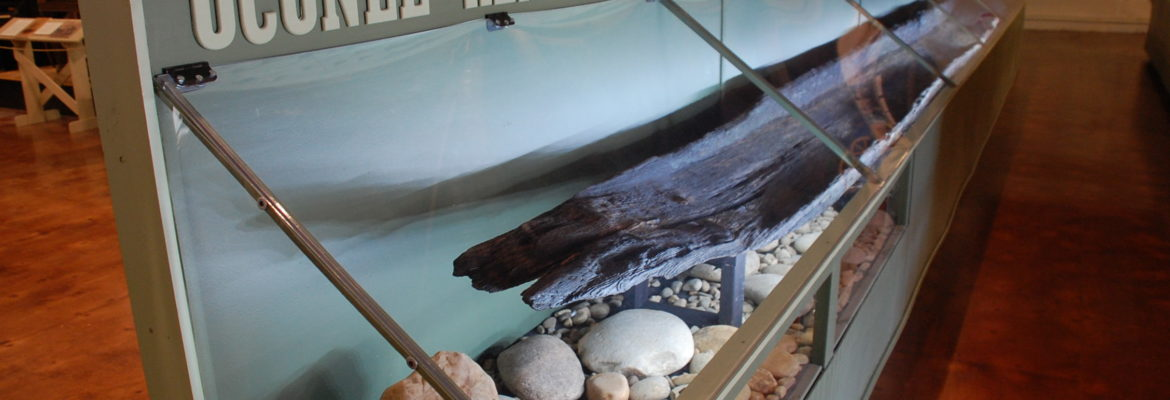"""Chattooga Canoe"" on display in the Exhibit Hall"